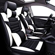 (Przód + tył) siedzenie samochodowe ze skóry pu pokrowce na Peugeot 407 308sw 607 307CC 3008 206CC 307SW 4008 ochraniacze na siedzenia samochodowe auto akcesoria