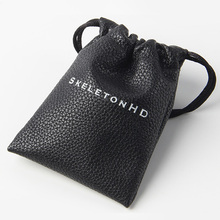Custom logo Lovely thick and soft PU drawstring bag for jewelry for gift