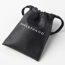 Custom logo Lovely thick and soft PU drawstring bag for jewelry for gift(China)