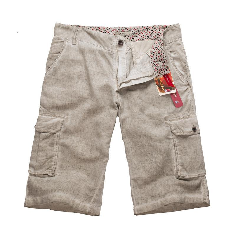 db33f9e01122 New Summer Mens Casual Loose Vintage Linen Shorts For Men