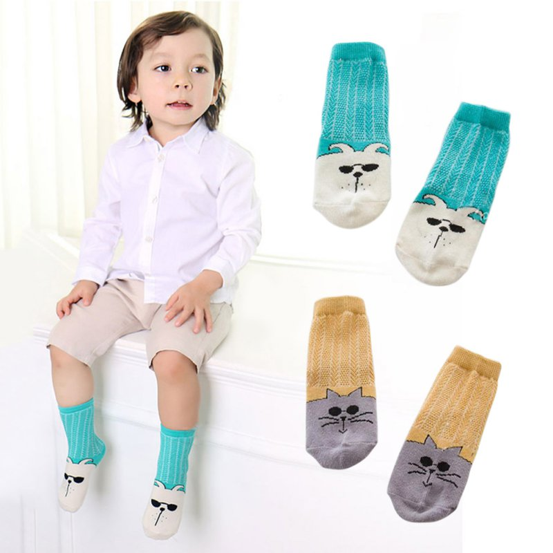 New Arrival Boys Girls Cartoon Knitted Cartoon Socks Kids Cotton Soft Socks Baby Hollow pattern Socks