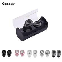 GiGiboom Mini Twins True Wireless Stereo Bluetooth Earphone Handsfree headset bluetooth 4 2 Earbuds with charging