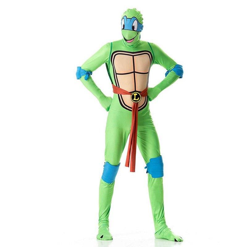 Черепашки Ниндзя косплэй костюм одежда Зентай для мужчин комбинезоны для женщин маска игрушка в виде ракушки оружие костюмы на Хэллоуин