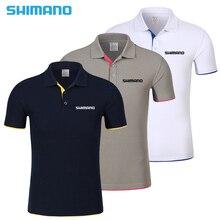 Новинка 2018 года SHIMANO летняя футболка для рыбалки дышащая одежда для рыбалки с коротким рукавом быстросохнущая рубашка с отворотом одежда для рыбалки