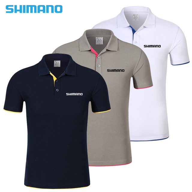 4f2154f056d 2018 New SHIMANO Summer Speicial Fishing T-Shirt Breathable Fishing  Clothing Short Sleeve Quick Dry Lapel shirt Fishing Clothes