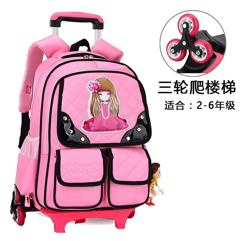 Trolley Children scholbag 6 Wheels Princess backpack Girls Children School Bag Trolley school Backpack kids Gift Girls RemovableTrolley Children scholbag 6 Wheels Princess backpack Girls Children School Bag Trolley school Backpack kids Gift Girls Removable