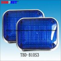 Dempsey 134 LEDs blitzleuchten Polizei Notfall Externe Auto styling Blue led Strobe Notfall Warnung Licht DC12V (TBD B10S3)-in Alarm-Lampe aus Sicherheit und Schutz bei