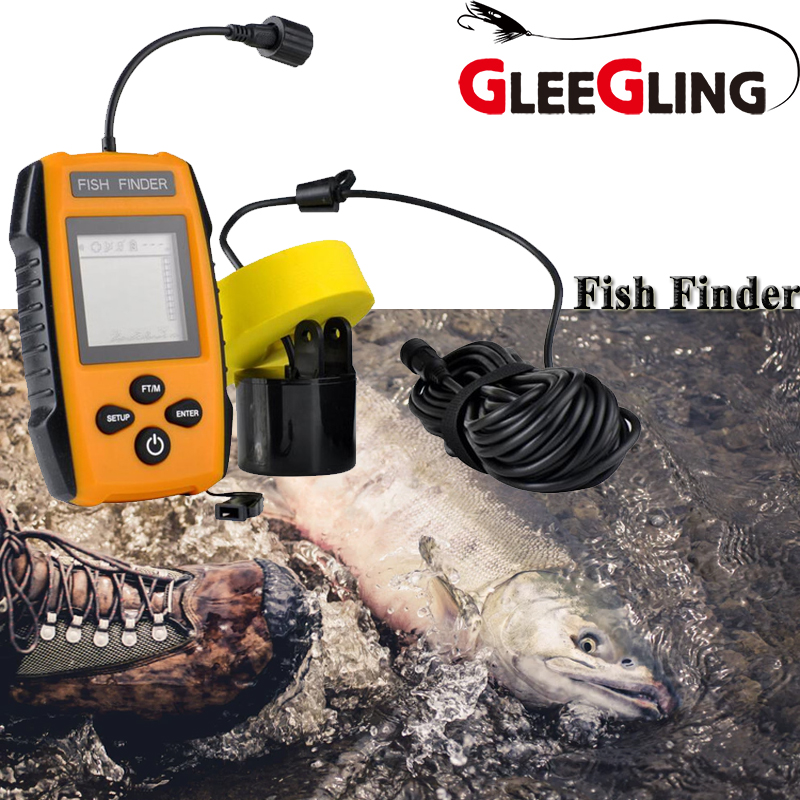 New Waterproof Fish Alarm Underwater Mobile Fishing Finder Smart Fish Finder with Sonar Sensor Echo Sounder Fishing Accessories