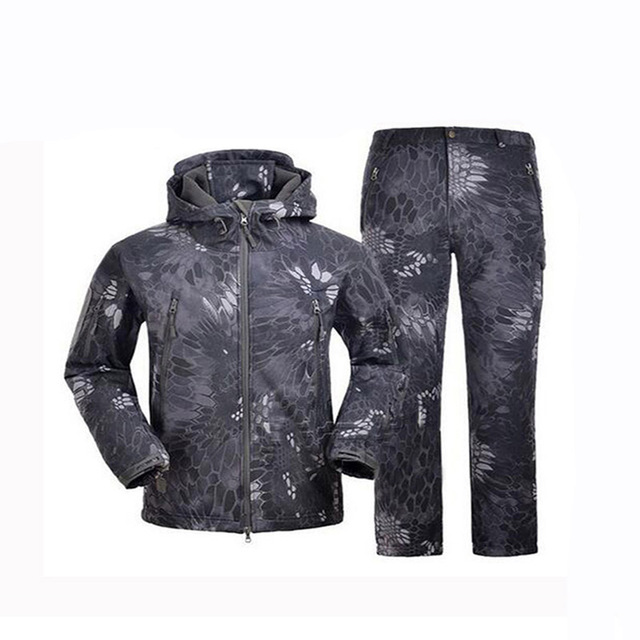 Outdoor Tactical Softshell TAD Suit Camouflage Hunting Clothes Military Uniform Camping Hiking Hunting Sets Jacket Or Pants
