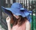 Boheimia mujeres Grande Ancho Brim Floppy Plegable Del Arco Del Verano Sombrero de Paja Casquillo de la Playa del Envío gratis (15509002)