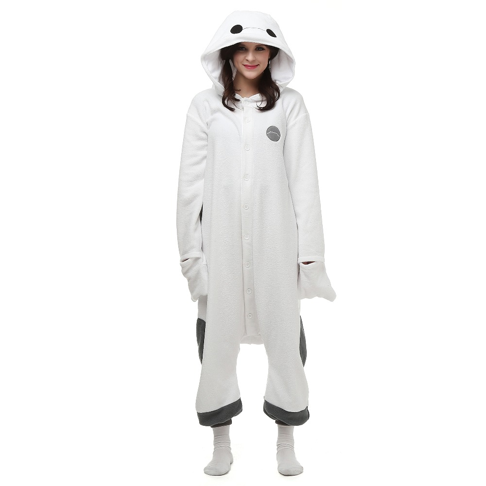 Christmas Halloween Birthday Gift Hot Baymax Fleece Onesie Homewear Hoodie Pajamas Sleepwear Robe For Adults