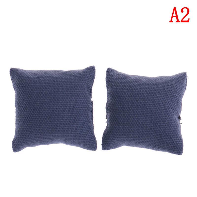 2Pcs Fashion Kussen Kussens Voor Sofa Couch Bed Voor 1/12 Dollhouse Miniatuur Meubels Speelgoed Zonder Sofa Stoel