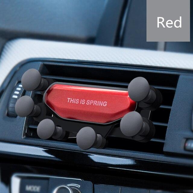 2020 nowy uniwersalny Air Vent uchwyt samochodowy Gravity auto-grip uchwyt samochodowy telefon wsparcie dla telefonu w samochodzie dla iPhone X Samsung tablety