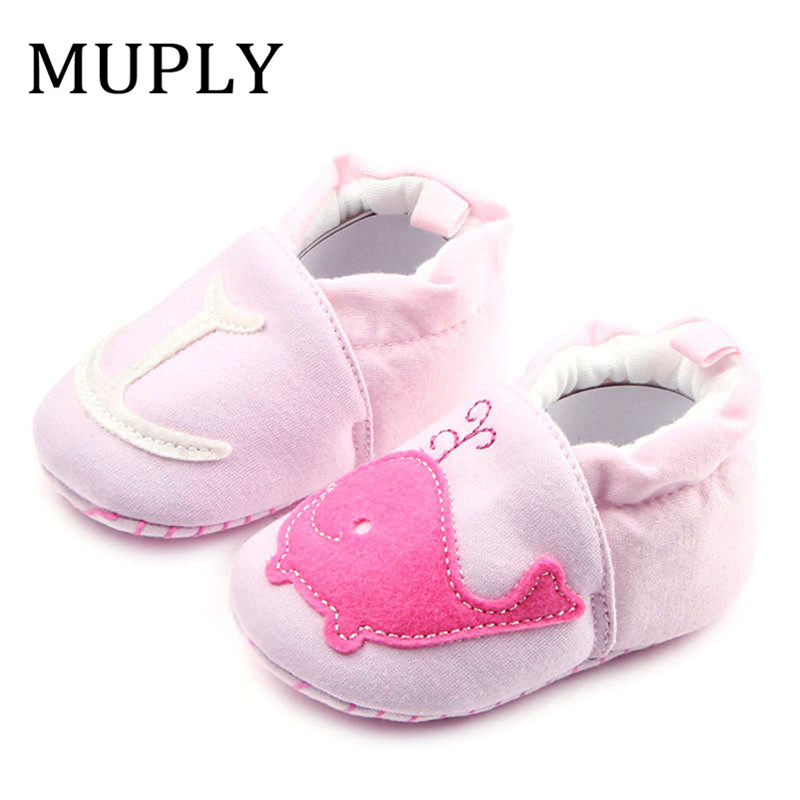 2019 Cute Dolphin Baby Girls Boys Shoes Shallow Princess Shoe Indoor Toddler Shoes For Girls Baby Girl First Walker Hot Sale