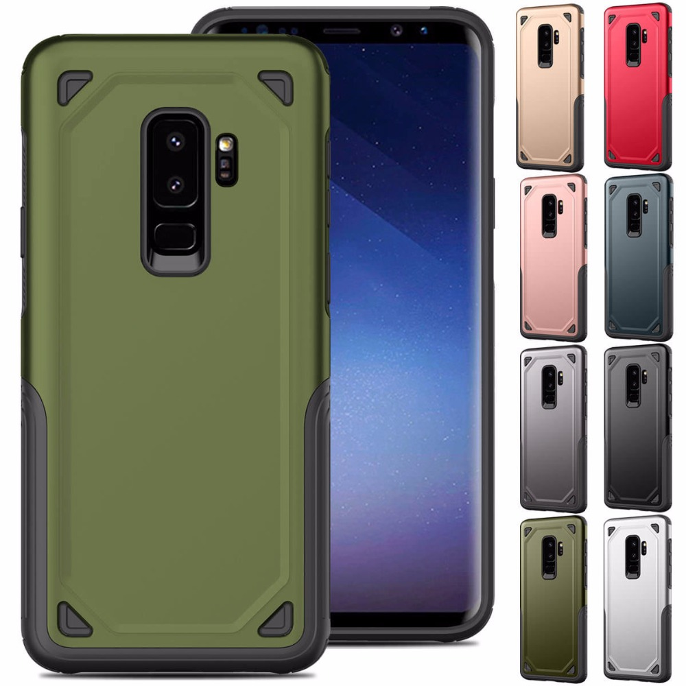 Military Shockproof Rugged Armor Phone Samsung Galaxy S8 S9 Plus Hybrid PC+TPU Armour Defend Cover For Galaxy S9