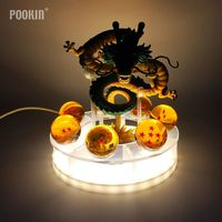 Dragon Ball Action Figures Shenron Strength Bombs Luminaria LED Lightning Ball Night Light Holiday Gift Room Decorative Lamp