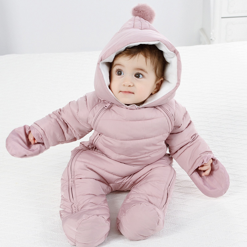 2018 Autumn Winter Baby Romper Baby Boy Girl Winter Warm Kids Jumpsuit Clothes Fleece Warm Baby Infant Clothes Rompers 0 12M