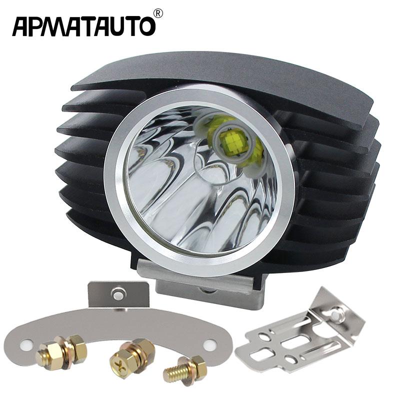 1x LED Car External Headlight 15W 10W White High/Low Motorcycle DRL Headlamp Spotlight Drive Fog Spot Lights DC12V/24V
