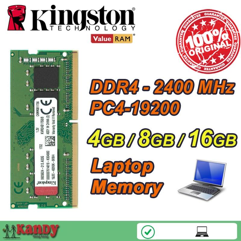 Kingston notebook laptop memory RAM DDR4 4GB 8GB 16GB 2400MHz 260 Pin SODIMM Non-ECC wholesale for Lenovo ThinkPad SONY Acer HP 4gb pc2 5300s ddr2 667 667mhz ddr2 laptop memory cl5 0 sodimm notebook ram non ecc 200pin 2rx16 low density