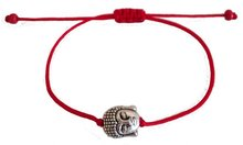 Фотография Bohemia antique silver plated buddha bead red string women bracelet jewelry