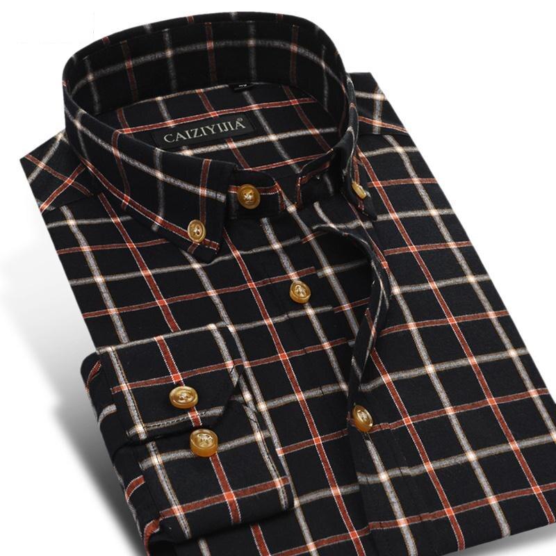Buy fashion british style men flannel for Best flannel shirt brands