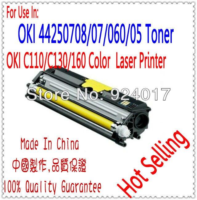 For Okidata 44250724 44250723 44250722 44250721 Color Toner Cartridge For Oki C110 C130 MC160 C110n C130n