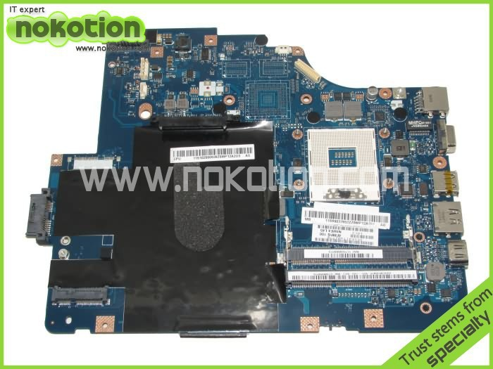 NOKOTION LA-5752P for Lenovo G560 laptop motherboard intel HM55 DDR3 Mainboard Mother Boards free shipping nokotion laptop motherboard for lenovo g570 la 675ap mainboard intel hp65 ddr3 socket pga989