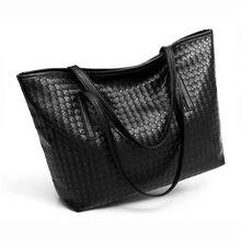 NUOYUFAN Bag 2018 new women s bag trend weaving large-capacity shoulder bag  fashion casual tote bag simple big bag 2164341ddd9f7