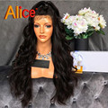 ALICE 8-30 Inches Brazilian Body Wave Wig Full Lace Human Hair Wigs For Black Women Lace Front Human Hair Wigs With Baby Hair