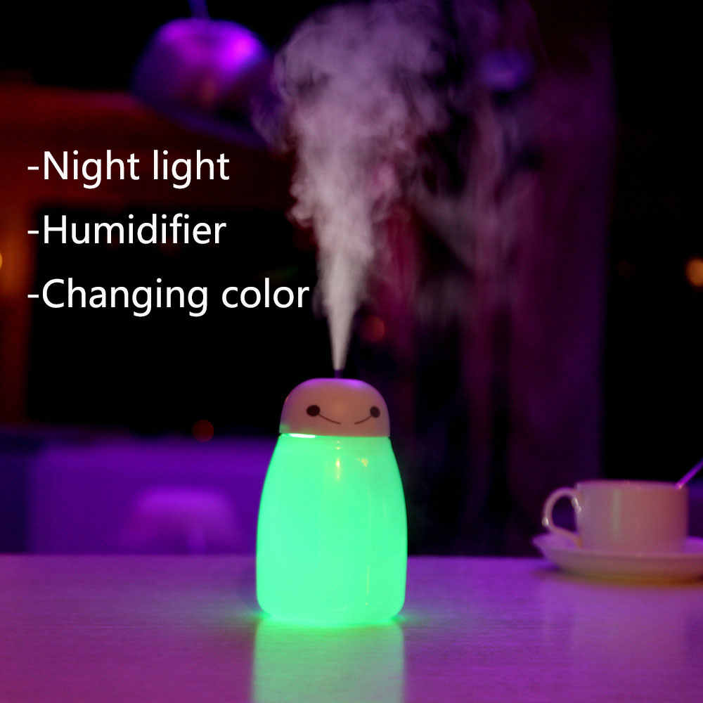 7 Color LED Night light with 400ml Air Humidifier Aroma Essential Oil Diffuser Aromatherapy NEW USB lovely  lamp baby blub