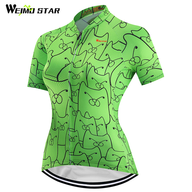 Weimostar 2018 Women Short Sleeve Cycling Clothing Bike Team Racing Sport Cycling Jersey Ropa Ciclismo mtb Bicycle Bike Jersey
