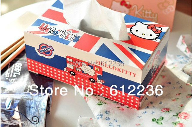 Cute Cartoon Hello Kitty Tissue box wood towel box beautiful home decorations Household Sundries hot selling new arrival