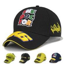 2016 New Design Men's Baseball Cap F1 Racing Cap hat Car Motocycle Racing MOTO GP VR 46 Rossi Embroidery Sport Hiphop 100%Cotton