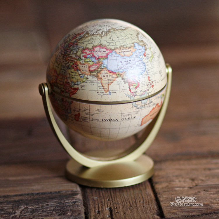 Globe Decoration Leaning Educational Geography Teaching Tool Globe Study Decorates Exquisite Gift Office Study Bookcase Desktop ...