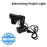 Eua/ue plug carga projeção publicidade luz noturna rotatable bem-vindo logotipo lâmpada do projetor suporte logotipo personalizado e dropship