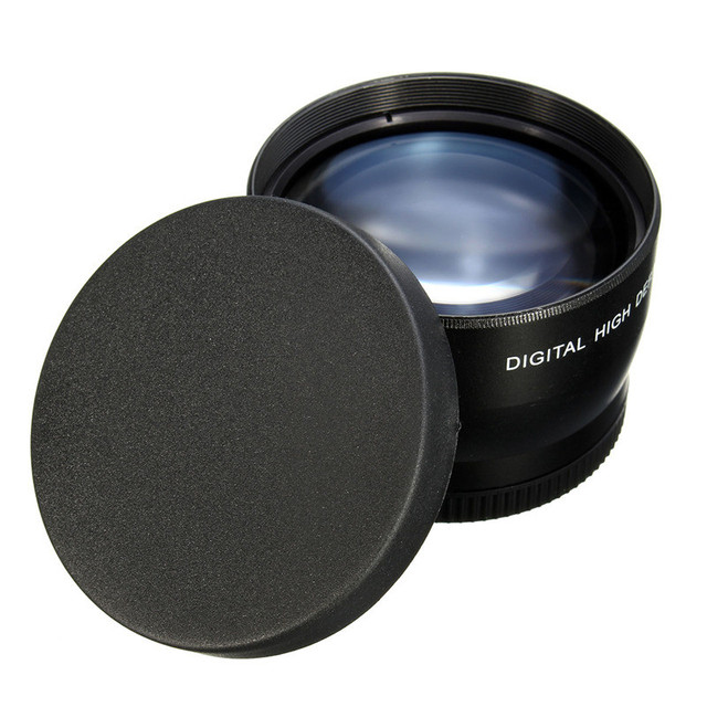 58mm 2X Telephoto Lens for Canon EOS 1200D 1100D 700D 650D 600D 550D 500D 60D 70D 7D 6D Rebel T5iT4i T3i XTi XS XSi W Camera
