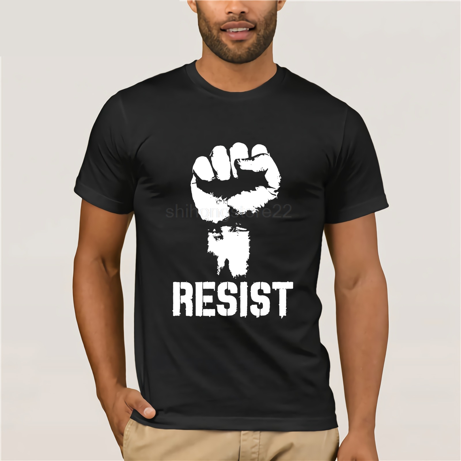 Resist Political Anti Political <font><b>Protest</b></font> Power Fist Anti Trump T Shirt Politics S image