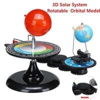 Solar System Globes Rotatable Earth Sun Moon Orbital Planetarium Model Geography Astronomy Science Educational Teaching Tool Kit