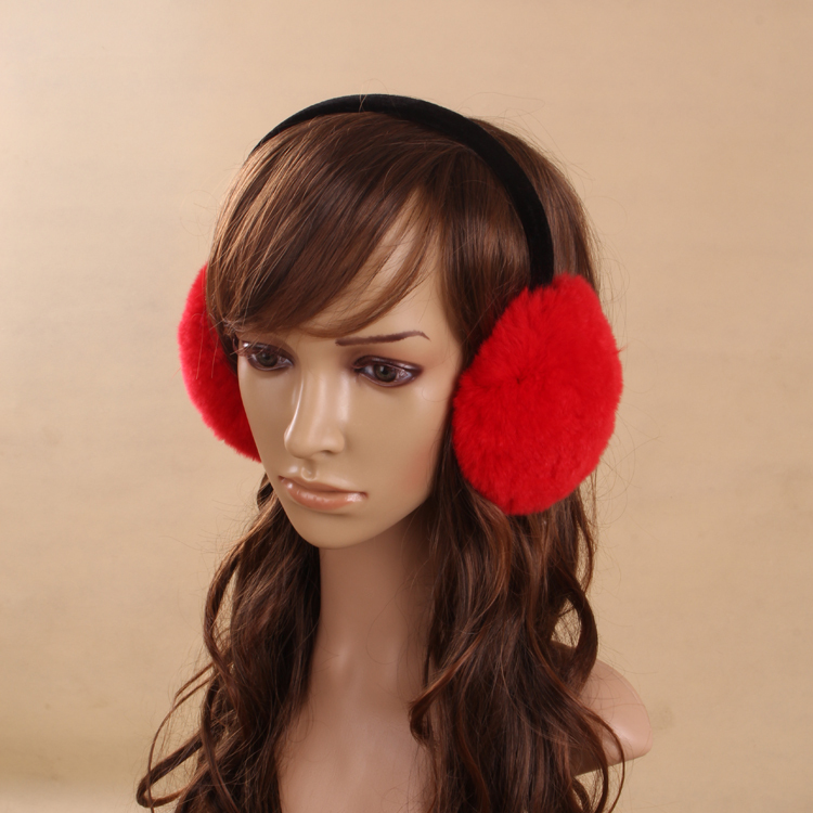The New 2016 Ms Rabbit Fur Earmuffs Warm Winter Earmuffs Large Fur Earmuffs Cute Ears, Ear Over Your Real Hair