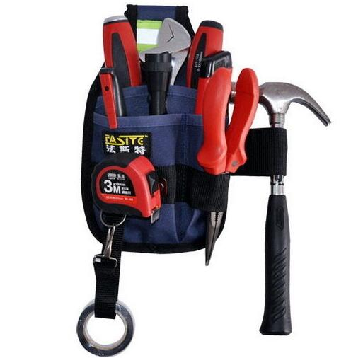 3-Pocket Professional Electrician Tool Bag Belt Pouch Work Tape Buckle Convenient Tool Bag Electrician