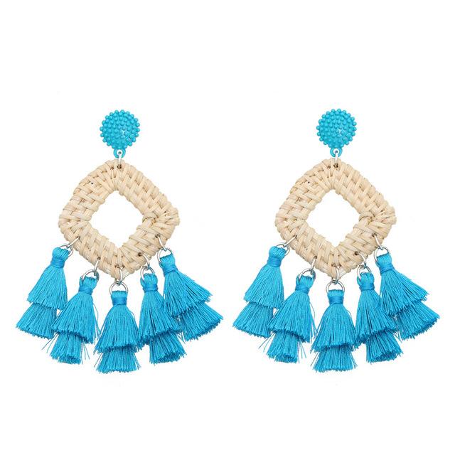 Handmade Rattan Drop Earrings