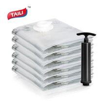 6 шт. 80*100 см вакуумная сумка для экономии пространства сумка для одежды герметичная без утечки CN