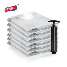 6 PCS 80*100cm Vacuum Bag Space Saver Bag Stroage Bag for Clothes Airtight No Leak CN