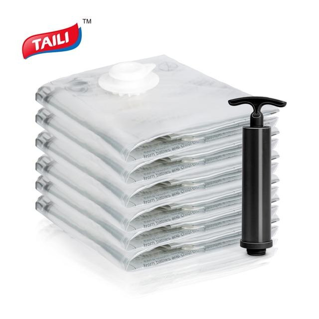 6 Stuks 80*100Cm Vacuümzak Ruimte Saver Bag Stroage Bag Voor Kleding Luchtdicht Geen Lek Cn