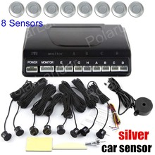 factory price for rear and front sound alert Car Parking Sensor without Monitor 8 sensors 9 colors to choose buzzer system