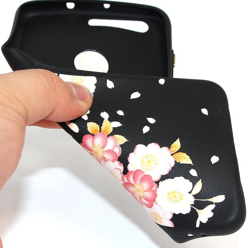3D Relief flower silicone case huawei honor 8 (36)