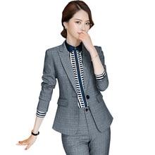 2019 winter Business Women 2 Piece suit set Long-sleeved Ele