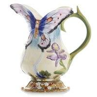 Ceramic vase ornaments gardens European Pastoral style flowers butterfly vases simple milk jar vase
