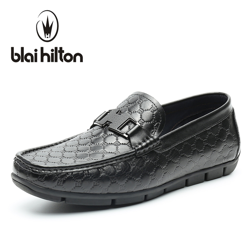 Blaibilton Low Top 100% Luxury Genuine Leather Loafers Men Shoes Driving Fashion Classic Mens Shoes Casual Boat Designer SD6133 amaginmni brand genuine cow leather mens loafers 2017 fashion handmade mens casual shoes breathable comfortable boat shoes men