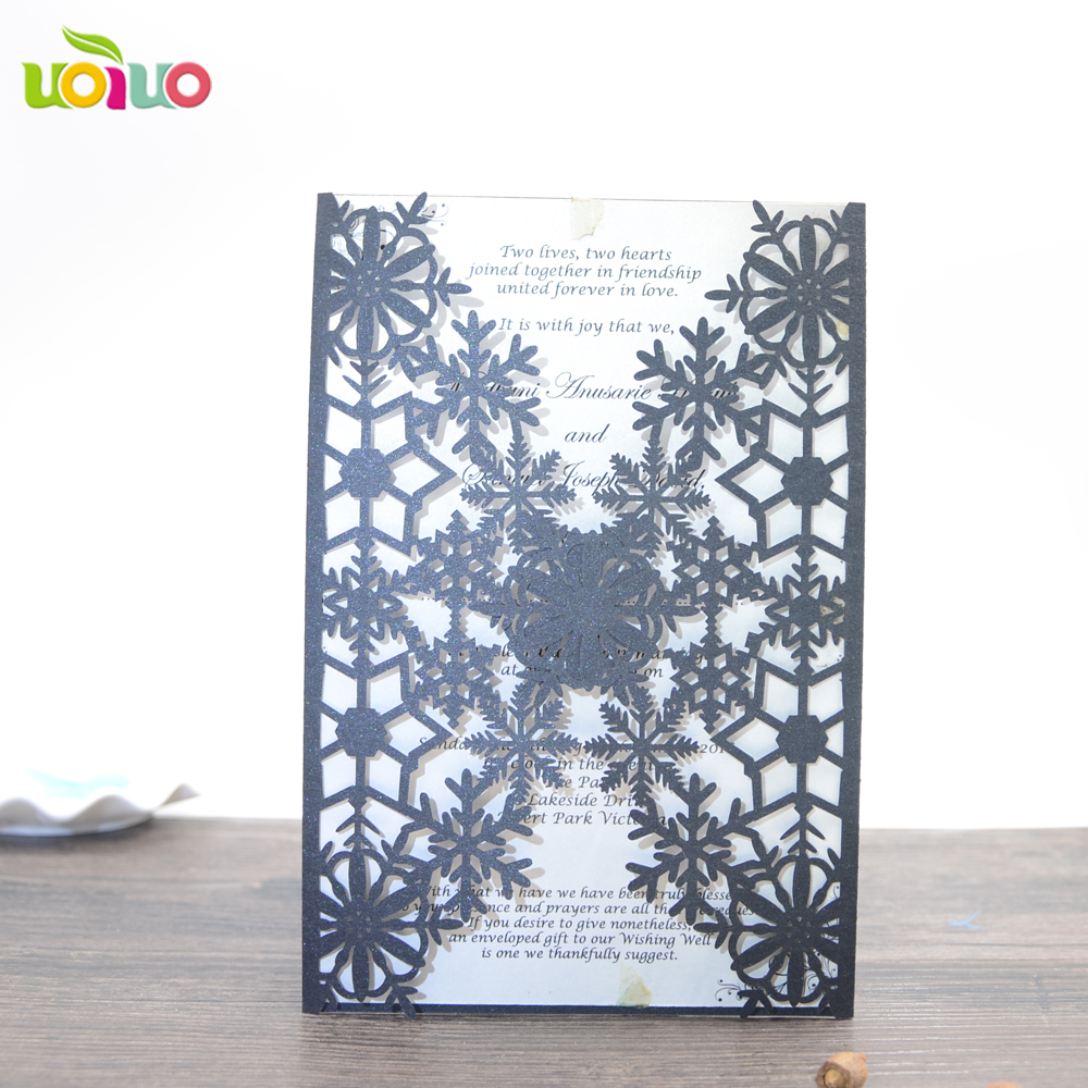 Laser Cut Vine Paper Crafts Elegant Wedding Invitation Card ...